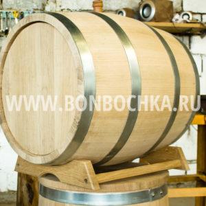 Дубовая бочка 100 литров с подставкой, кавказский колотый дуб