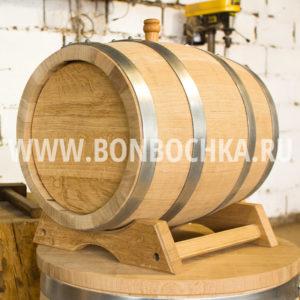 Дубовая бочка 25 литров, с подставкой и краником, кавказский колотый дуб, купить в Санкт - Петербурге
